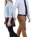 Man and woman walking — Stock Photo #9985395