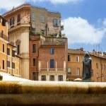 Giordano Bruno statue in Campo de' Fiori, Rome. Italy. — Stock Photo #35966805