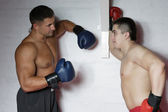 Two boxers in training — Stock Photo