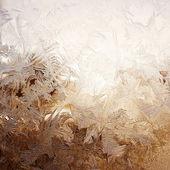 ウィンドウ上の雪のパターン — ストック写真