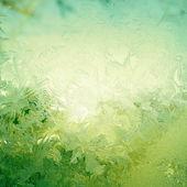 Padrão de neve na janela — Foto Stock