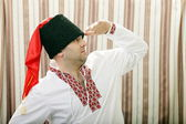 Ukrainian Cossack in national dress — Stock fotografie