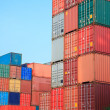 Stack of Cargo Containers in an intermodal yard — Stock Photo #12631201