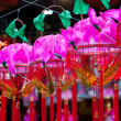 Stock Photo: Hanging paper lotus festival lanterns