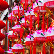 Hanging paper lotus festival lanterns — Stock Photo #16888827