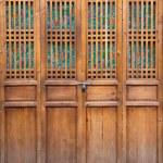 Closed wooden door — Stock Photo #1879193