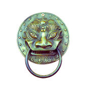 Traditional Chinese Door knocker on white — Stock Photo