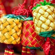 Chinese new year ornament - group of tied knots — Stock Photo