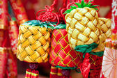 Chinese new year ornament - group of tied knots — Stock fotografie