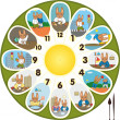 Clock Rabbit Schoolchild — Stock Vector #12741784