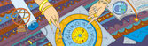 Astrology Prognostication Banner — Stockvektor