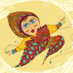 Girl Jump Ornamental — Stock Vector #26423413