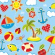 Summer Seamless Background - Stockvektor