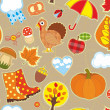 Autumn Seamless Background — Stock Vector