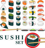 Big Sushi Set — Stock Vector