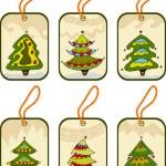 Set christmas tags — Stok Vektör #9410210