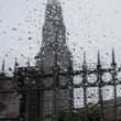 The rain and the Perret Tower - Stock Photo