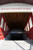 Bockenheimer warte entrance — Stock Photo