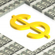 Gold dollar sign — Stock Photo