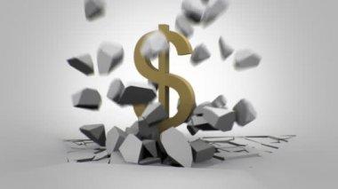 Animação do dólar — Vídeo Stock