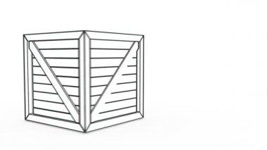 Wifi sign wood box — Stock Video