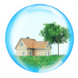 Royalty-Free Stock Photo: House with tree in sphere