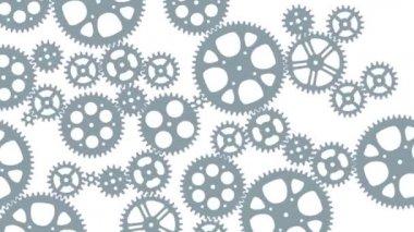 Loop animated gears animation — Stock Video