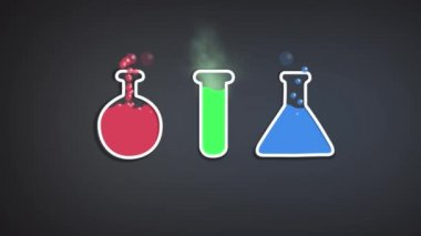 Science concept design template for infographics — Stock Video