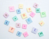 Letters and digits — Stock Photo