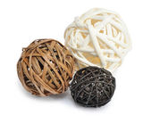 Wicker wooden ball — Stock Photo