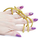 Gold rope — Stock Photo