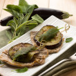 Saltimbocca with eggplants — Stock Photo