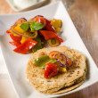 Tortillas with capsicum, selective focus — Stock Photo