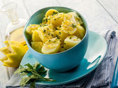 Potatoes salad with parsley and pepper — Stock Photo