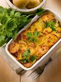 Homemade potato cake, vegetarian food — Stock Photo