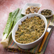 Gratin of swiss chard anchovies and capers — Stock Photo #50377813