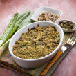 Gratin of swiss chard anchovies and capers, selective focus — Stock Photo #50377877