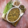 Gratin of swiss chard anchovies and capers — Stock Photo #50378085