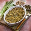 Gratin of swiss chard anchovies and capers, selective focus — Stock Photo #50378155