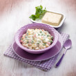 Russian salad with tofu cheese — Stock Photo #50380459