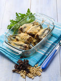 Alici beccafico traditional sicily recipe — Stock Photo