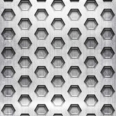 Honeycomb metal grid — Stock Photo