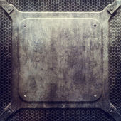 Metal grunge plate — Stock Photo