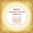 Vintage poster template — Stock Vector