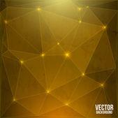 Sfondo astratto vettoriale oro lucido — Vector de stock