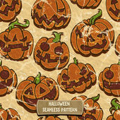 Pumpkins seamless pattern — Stock Vector