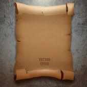 Vector old paper manuscript — Stock Vector