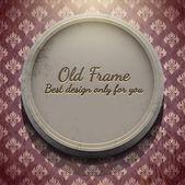Круглая рамка в старой комнате — Cтоковый вектор