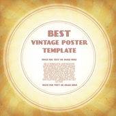 Vintage plakát šablona — Stock vektor