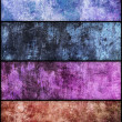 Banners set of grunge texture — Stock Photo